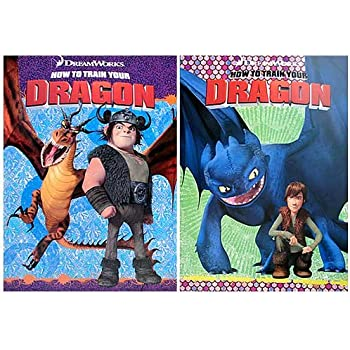 How to Train your Dragon Coloring and Activity Books (2 Books) by Dreamworks Animation