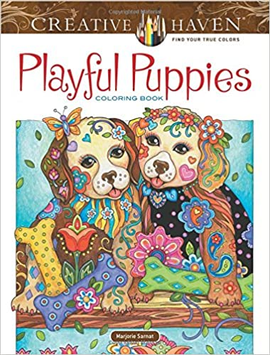 Amazon.com: Creative Haven Playful Puppies Coloring Book ...