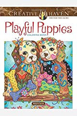 Creative Haven Playful Puppies Coloring Book (Adult Coloring) Paperback