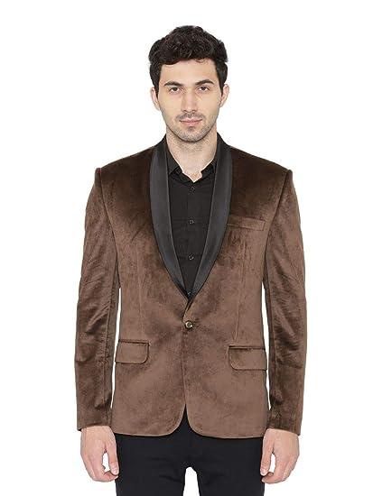 Wintage Mens Premium Velvet Notch Lapel Tuxedo Coat Blazer Jacket