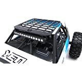 Gear Head RC Axial Yeti Edition White and Blue Trail Torch Plus Miniature Roof Rack Combo