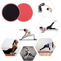 Pawaca double face curseurs de Core, et ornée de capacité d'entraînement pour club de gym, Home abdominale et Total Body équipement d'entraînement, 2pcs