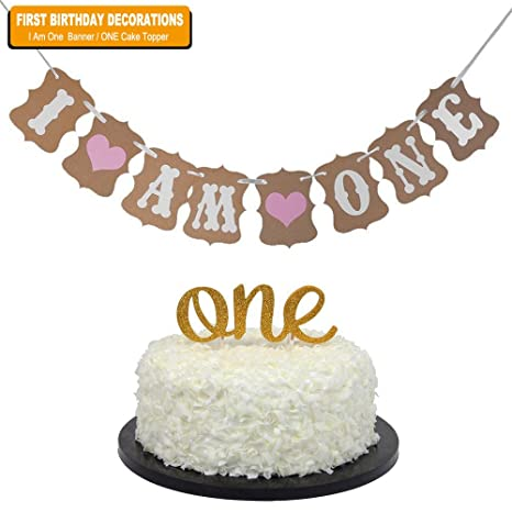 BABY Firth Birthday Party Decoration Sweet Heart First Cake Topper