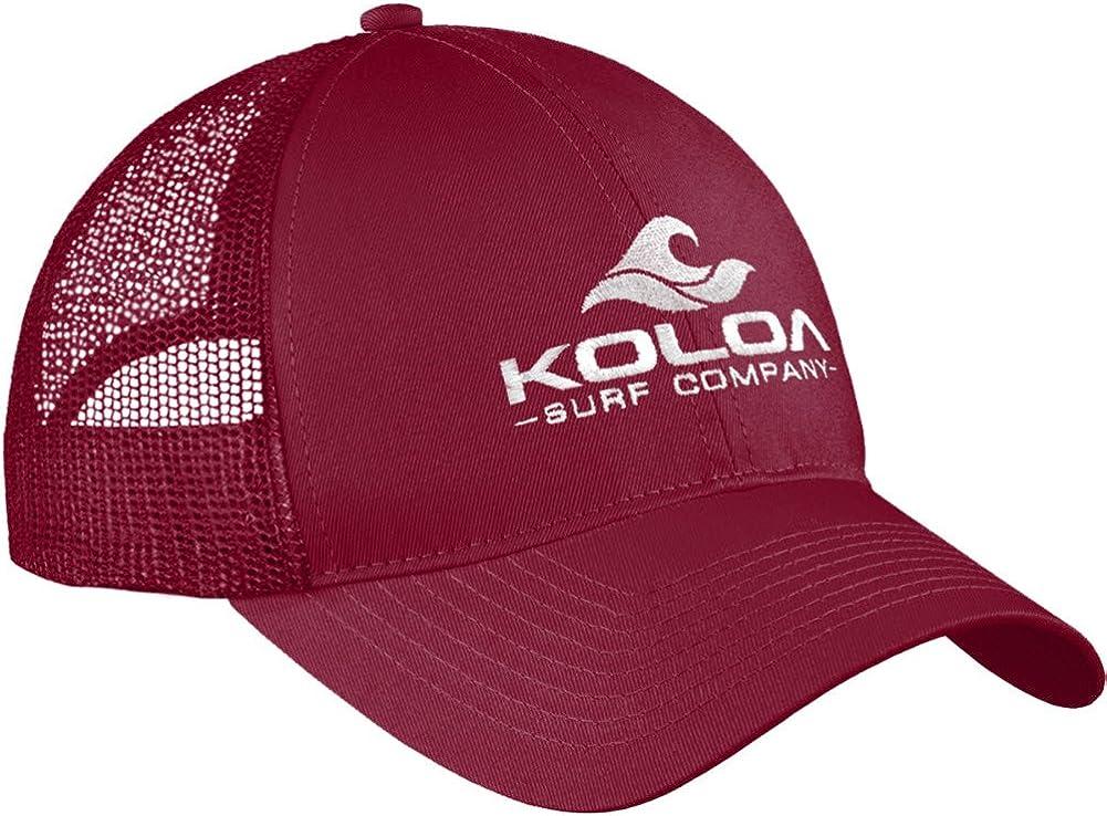 Koloa Surf Wave Logo Old School Curved Bill Mesh Snapback Hats