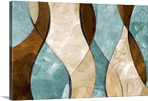 Blue Lyrical I Canvas Wall Art Print, 24