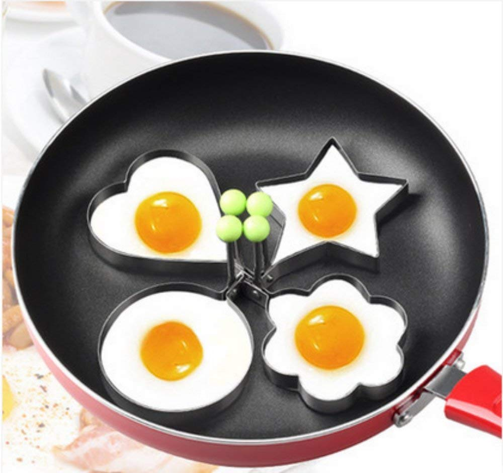 Magik 5 Pcs Fried Egg Non Stick Stainless Steel Pancake Ring Mold Cooking Kitchen Tools by Magik (Image #4)
