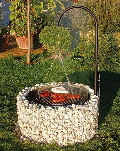 Feuer und Grillstelle Gabione Ø 92, H.40 cm 95580