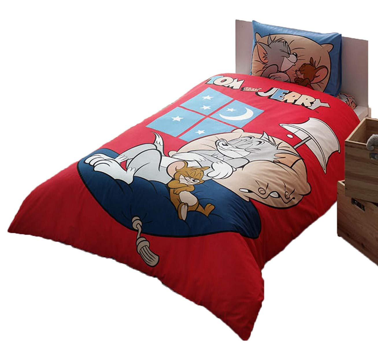 cityof20 Tom And Jerry Good Night Kid's Twin Duvet/Quilt Cover Set Single/Twin Size Kids Bedding