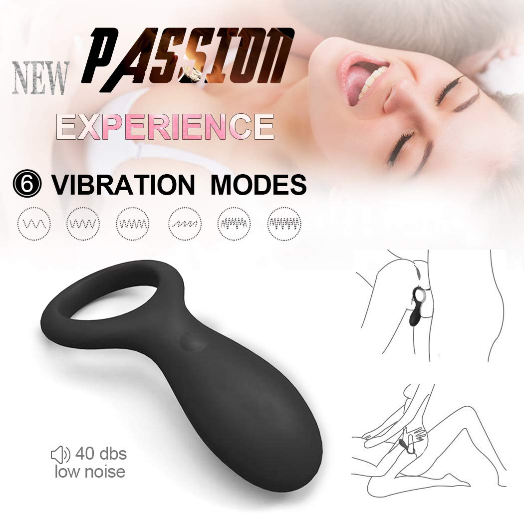 Male Vibrating Cock Rings, Silicone Waterproof Dick Play Adult Sex Vibrator Toys for Men and Couples T-Shirt