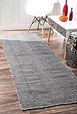 nuLOOM Handmade Fancy Trellis Wool Paddle Runner Area Rugs, 2' 6'' x 8', Grey