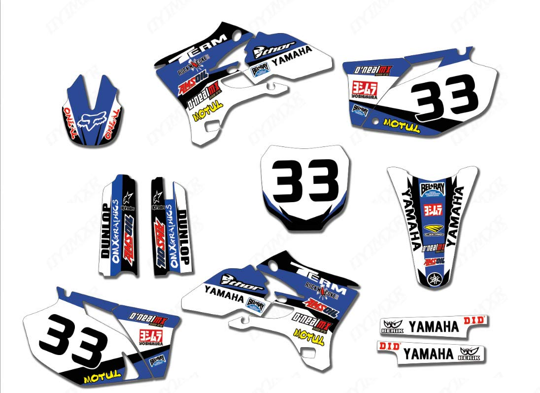 3M Customized Motorcycle Motocross Bike Graphics Stickers Background Decals For Yamaha YZ250F YZ450F YZF250 YZF450 2003 2004 2005 (TZ-YZF250B-16)