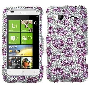 MYBAT Leopard Skin/purple Diamante Protector Cover for HTC Radar 4G