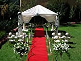 "lovemyfabric Wedding Accessories Felt Aisle Runner for Wedding, Runway 48""X240""(4ft X20ft) (Red)"