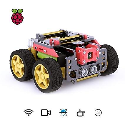 Amazon com: Adeept AWR 4WD WiFi Smart Robot Car Kit for