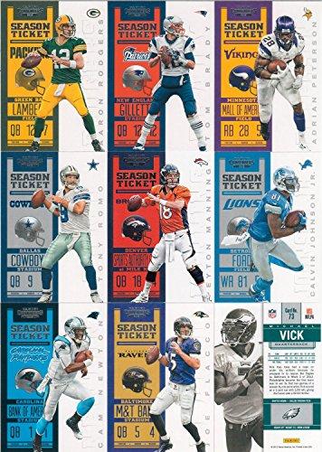 Tim Tebow Football (2012 Panini Contenders NFL Football Series Complete Mint 100 Card Basic Set Tom Brady Manning Plus)