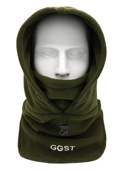 48a60052a39 Balaclava Windproof Ski Mask Winter Thermal Fleece Hood Heavyweight Warm  Outdoor Sports Face Hat for Men