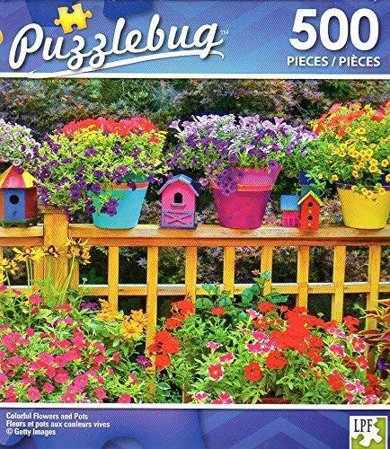 注目のブランド カラフルな花とPots – – 500ピースジグソーパズル – Puzzlebug – – P 001 P B07BB74NKM, 辰野町:00b74147 --- a0267596.xsph.ru