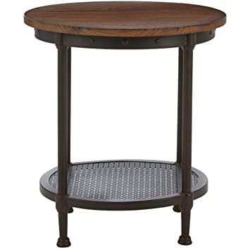 Superbe Home Decorators Collection Gentry Distressed Oak End Table