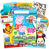 Imagine Ink No Mess Coloring Book Super Set ~ Bundle Includes 3 No Mess Magic Ink Activity Books Featuring Peppa Pig, Lion Guard, and Tsum Tsum with Over 300 Stickers (Imagine Ink Coloring Books)