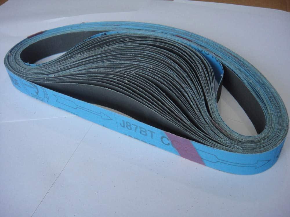 New 10pcs 762 * 25mm Soft Cloth Sandpaper Silicon Carbide Abrasive Sanding Belts for Grinding Aluminum/Copper P100-1200,1500 800