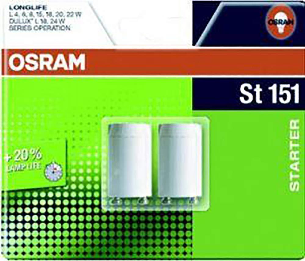 Osram Blister Starter Verre 22 W Blanc Lot de 2