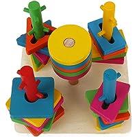 Bozevon hayvanları çocuk ahşap geometrik istifleyici oyuncak, parçalarını kullanıyoruz arkalık oyuncak 331011005502