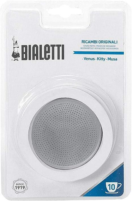 Bialetti 0800403 Filtro para Cafetera Italiana, de Acero Inoxidable, Blanco/Acero Inoxidable (19 x 12,5 x 0,2 cm): Amazon.es: Hogar
