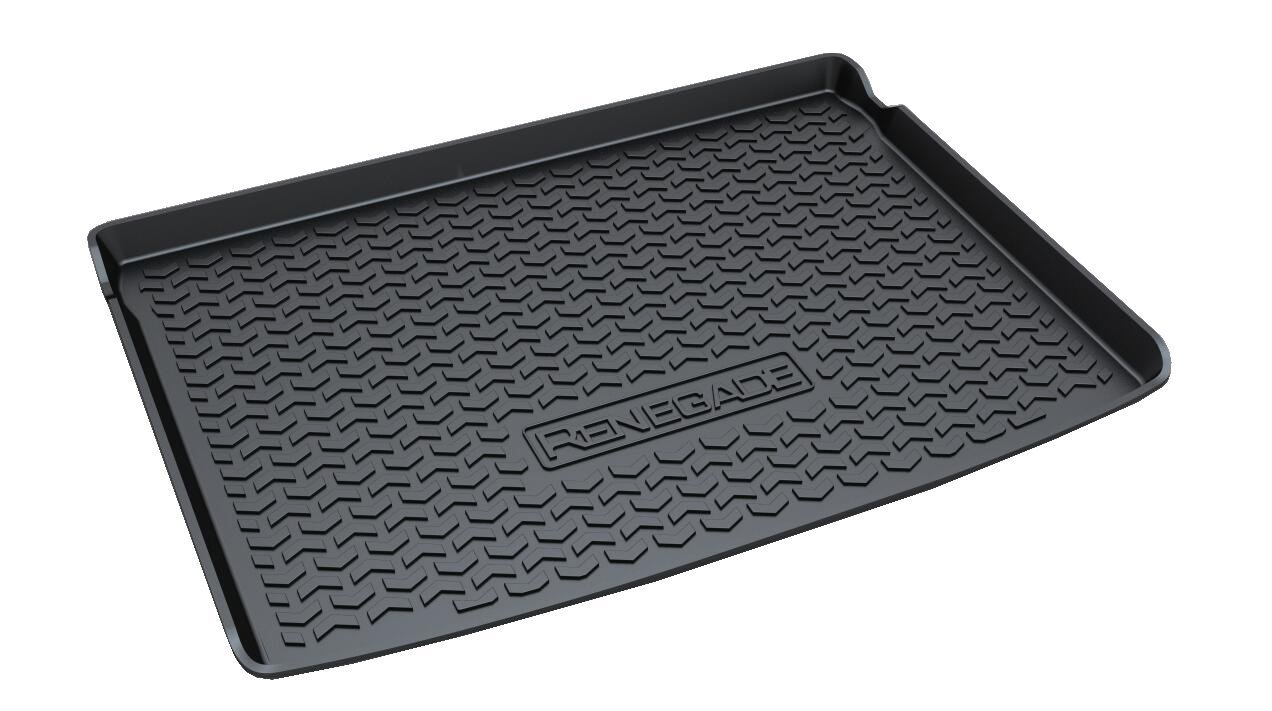 Vesul Rubber Rear Trunk Cover Cargo Liner Trunk Tray Carpet Floor Mat Fits on Jeep Renegade 2015 2016 2017 2018 2019