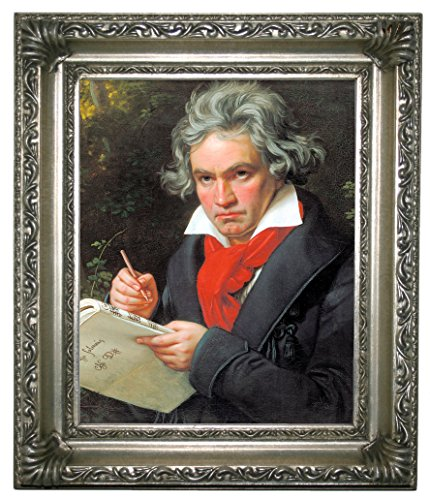 - Historic Art Gallery Portrait of Ludwig Van Beethoven When Composing Framed Canvas Print 8
