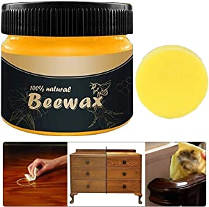Wood Seasoning Beewax Traditional Beeswax Polish for Wood Furniture All Purpose Beewax for Wood Cleaner and Polish Non Toxic for Furniture to Beautify & Protect