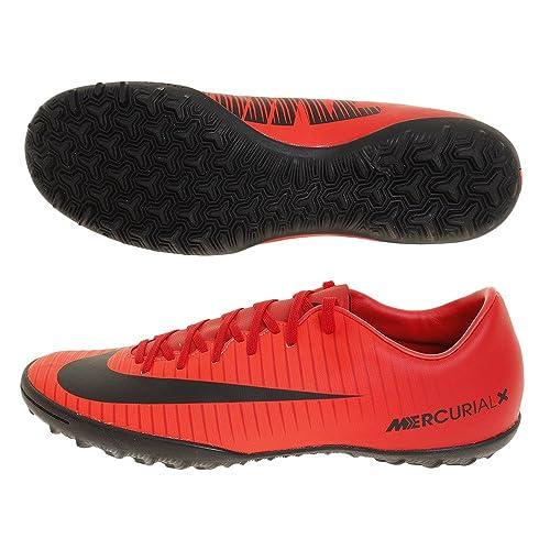 best sneakers b8e5f 4bb80 Nike Men's Mercurial X Victory VI TF 831968 Football Boots, (Universität  Rot/Schwarz