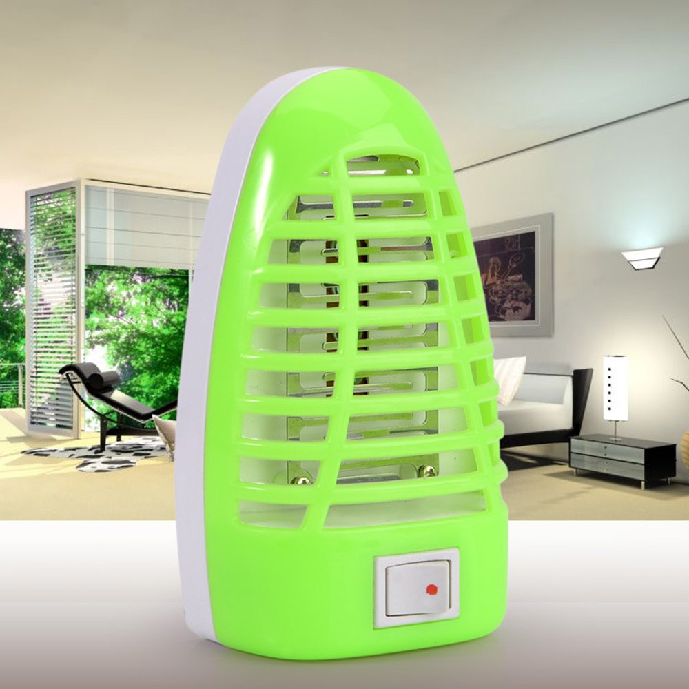 Vone Electronic Insect Killer, Bug Zapper Night Lamp Household Fly Killer, Insect Control Electronic Repellent, Auto To and Off Safe Children Pets (2 Pack)