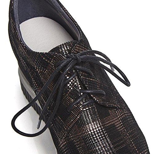 Flash 37 WSXY Semelles À Femme Silver Plateformes Lacer Chaussures Coins Q1407 Impression KJJDE De wzqORn