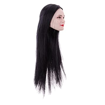 Women Head Sculpt Action Figure 1//6 Scale Long Hair Model Girl Accessory