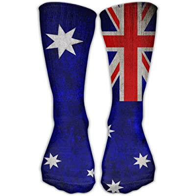 ZZHZMH Thigh High Socks Flag Of Australia Funny Crew Workout Athletic Knee High Stockings 30cm