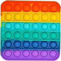 1PC/2PC/3PC Rainbow-Color Push pop Bubble Fidget Sensory Toy Fidget Toy Autism Special Needs Stress Reliever for Home…