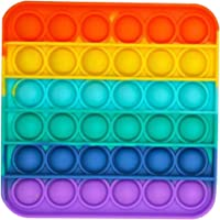 1PC Rainbow-Color Push pop Bubble Fidget Sensory Toy Fidget Toy Autism Special Needs Stress Reliever for Homeschool…