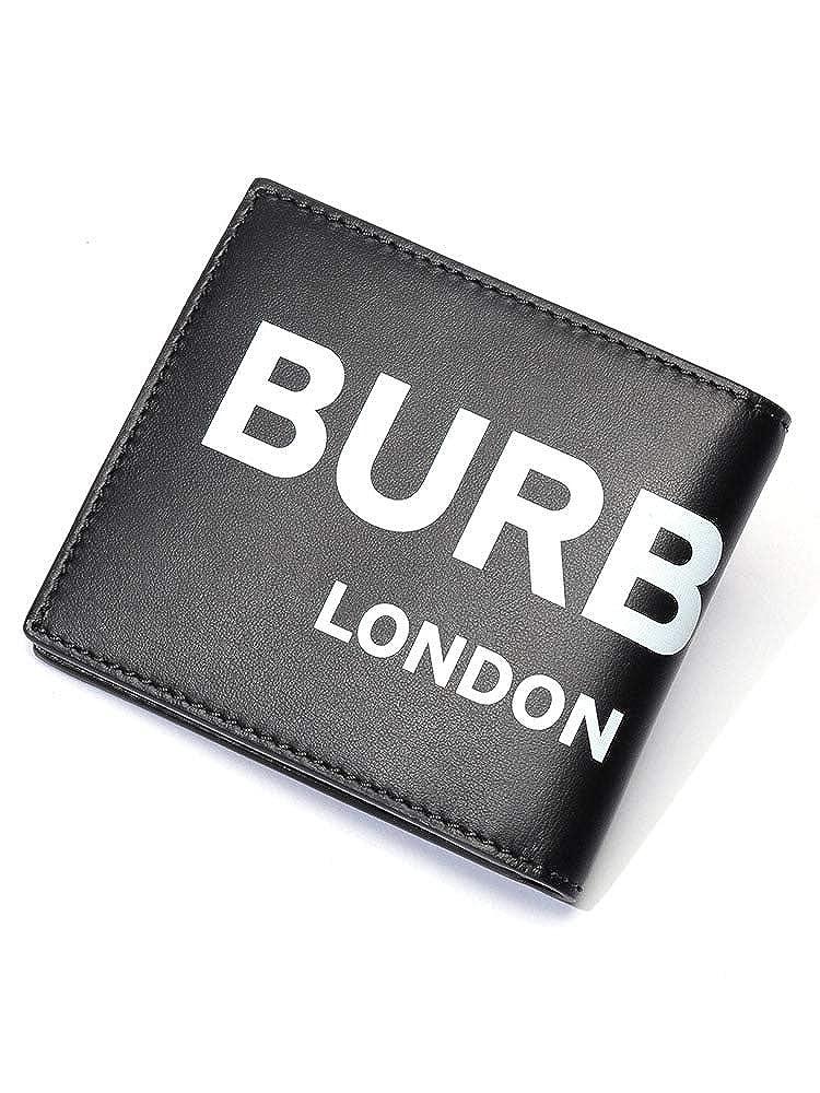 (バーバリー) BURBERRY ロゴプリント レザー インターナショナル バイフォールドウォレット [BB8008887] [並行輸入品] B07SVC4LP5 ブラック