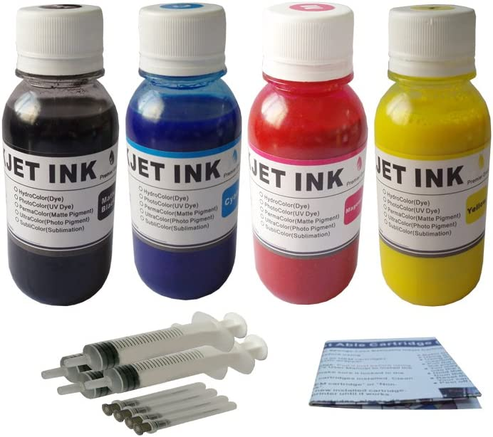 ND Brand Pigment Refill Ink kit for HP 940 XL 950 950XL 970 970XL 971 971XL Cartridge:OfficeJet Pro 8000 8500 8500a 8500a 8100 8600 Officejet Pro X451DW X476DW 400ml+Syringes