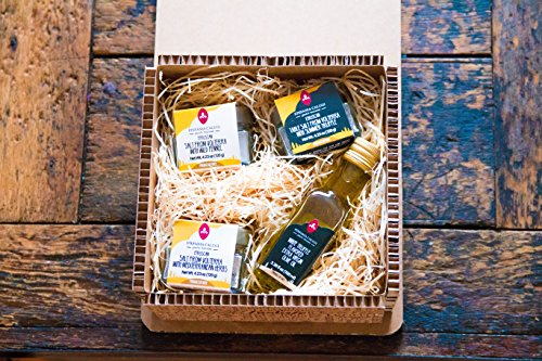 Italian Salt Selection and Truffle Olive Oil Pantry Gift Bundle by Stefania Calugi. Three Varieties of Volterra Table Salts (Truffle, Wild Fennel, Garden Herbs) and Truffle Olive Oil. by Stefania Calugi