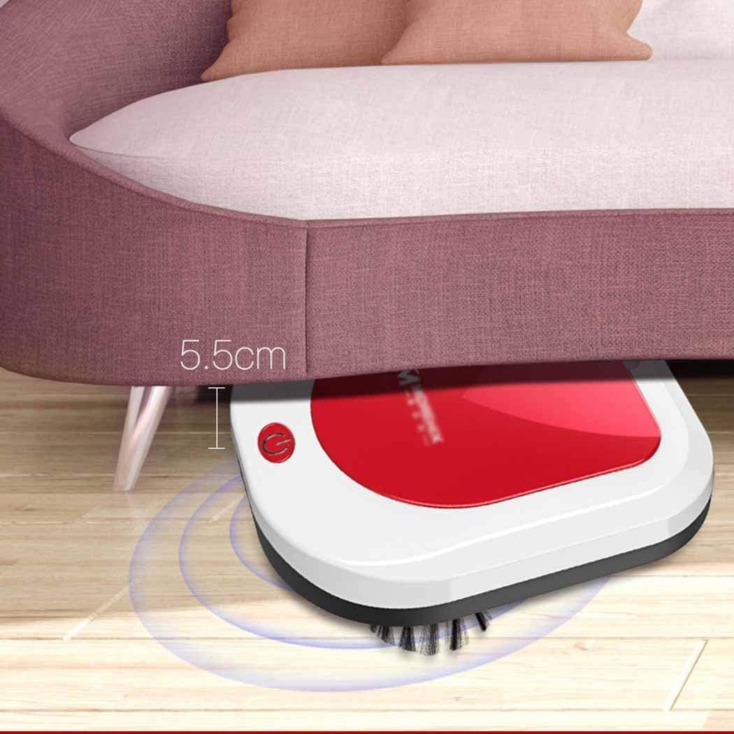 Jary Aspirateur Portable entièrement Automatique Télécommande Robot Ultra-Mince Sourdine Collecteur de poussière li (Color : A) C