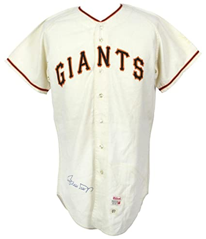 1a76b4916ccfe0 Rare Willie Mays Signed 1967 San Francisco Giants Game Used Jersey With COA  - JSA Certified