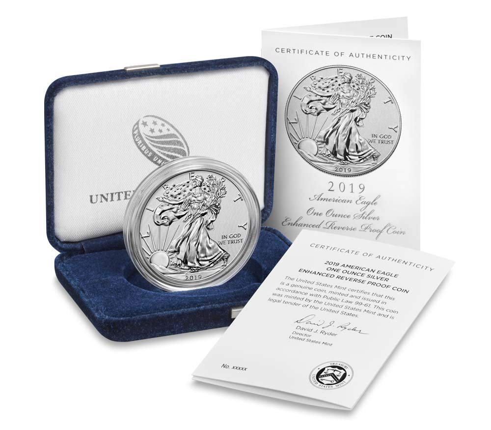 2012-W AMERICAN EAGLE ONE OUNCE PROOF SILVER COIN BOX NO COIN