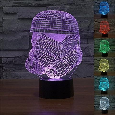 Star Wars Stormtrooper 3D 7-Color Gradual Changing LED Touch Switch Desklamp Nightlight( Clone Trooper - Trooper Model