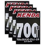 "Kenda 700x35-43c (27x1-1/8-1/4"") 48mm Schrader Valve Bike Tube Bundle - FOUR (4) PACK"