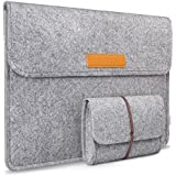 Inateck MacBook Air 11 Inch Sleeve Case Cover Ultrabook Netbook Tablet Bag Briefcase with Pockets for 11.6-Inch MacBook Air, Gray