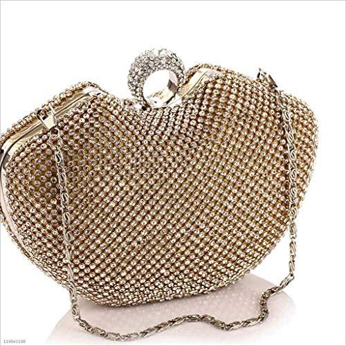 colore Portafoglio Argento Mindruer Argento per Donna party e europea Mele da Night Banchetto Spalla Pochette Oro americana borse rpadqWrZxw