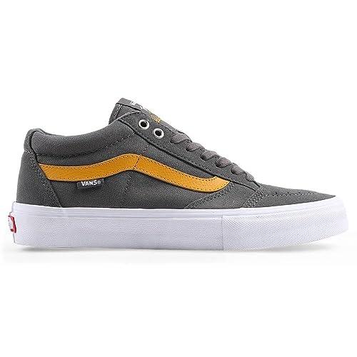 db5c53e6ba Vans Men s TNT SG Pewter Sunflower Skateboarding Shoes (US 8.5 ...