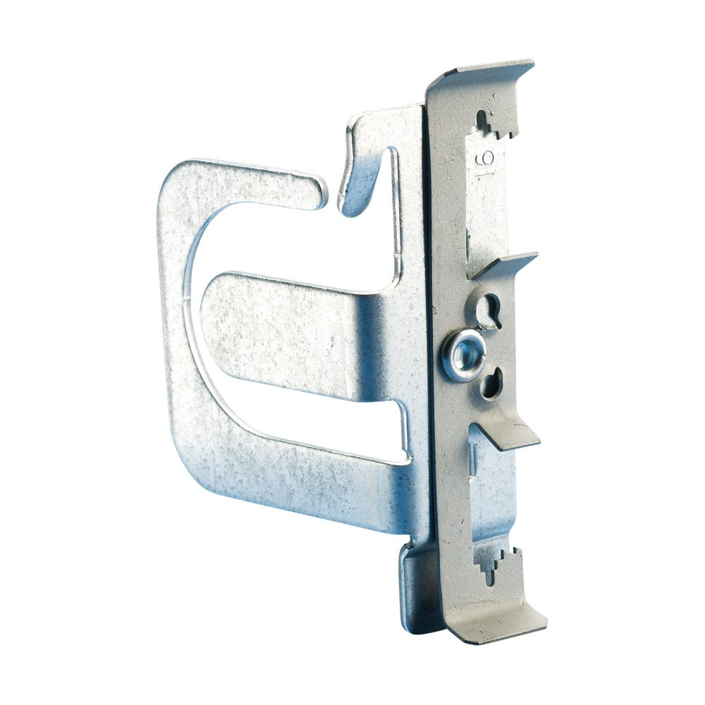 "MC/AC Cable Support Bracket with Rod/Wire Clip, 10-3 to 8-3 MC/AC, 7 Capacity, 1/4"" Rod, #8 Wire"