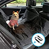 Car Seat Cover for Dogs and Pets, JanConcept Non-slip Waterproof Backseat Cover Hammock for Pets with Adjustable Straps, Machine Washable, Zipper Design, Car Backseat Protector Pad for Pets (Black)